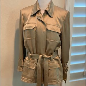 Champagne gold trench coat jacket